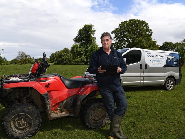 Richard Dee has pivoted from pig farming to videography and drone flying