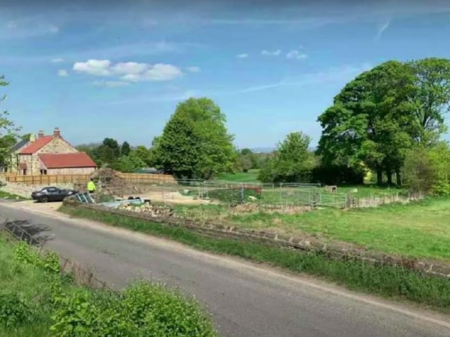 The site of the proposed farmhouse