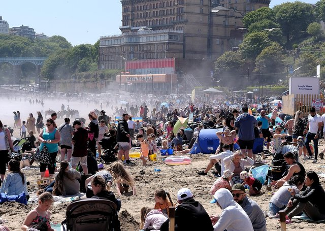 Holiday-makers soak up the sun in Scarborough but should lockdown restrictions be eased still further on June 21?