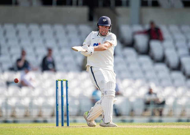 Yorkshire's Gary Ballance hits out on his way to a half century against Sussex. Picture by Allan McKenzie/SWpix.com