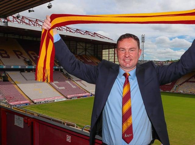 New Bradford City manager Derek Adams. Picture courtesy of Bradford City AFC.