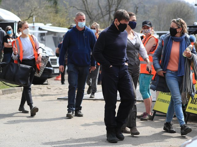 Tom Cruise was spotted filming in the sidings of the railway station in the village of Levisham in the North York Moors