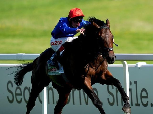 Adam Kirby rides Adayar to victory in the Epsom Derby. Pictures: Getty Images