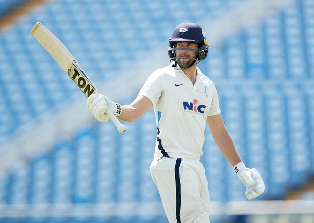 Gone:  Dawid Malan  waves to the crowd after falling for 199. Picture: John Clifton/SWpix