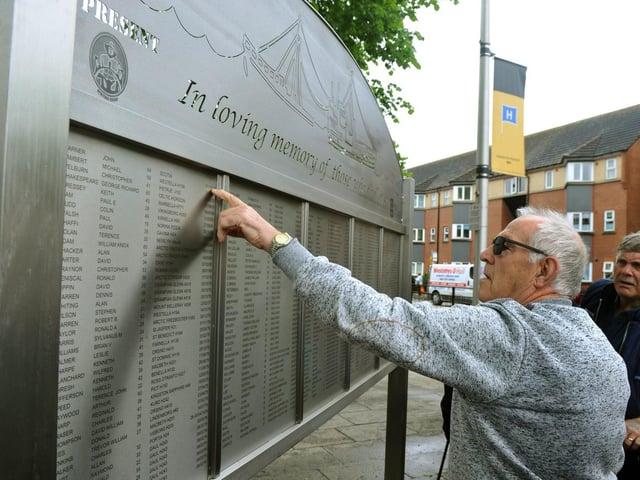 The Bethel boards on Hessle Road commemorate fishing crews lost in tragedies at sea
