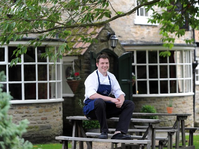 Chef Tommy Banks outside The Black Swan at Oldstead