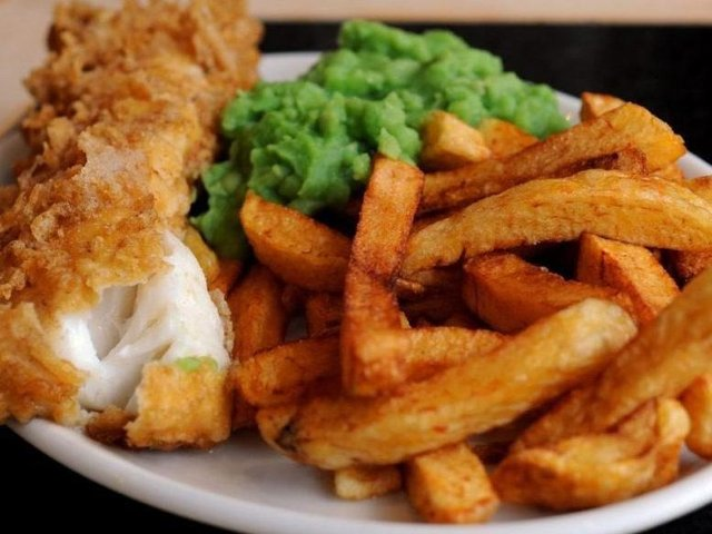 """A Yorkshire dad is """"trying to access therapy"""" after spending £54 on fish and chips in London, his son joked on Twitter."""