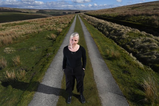 Sam Morton who makes jewellery as Creative Noir,  pictured near her home at Widdop near Hebden Bridge. Picture by Simon Hulme