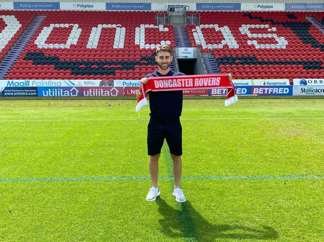 New signing Ben Close. Picture courtesy of Doncaster Rovers FC.