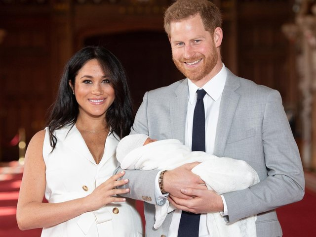 Duke and Duchess of Sussex with their baby son, Archie