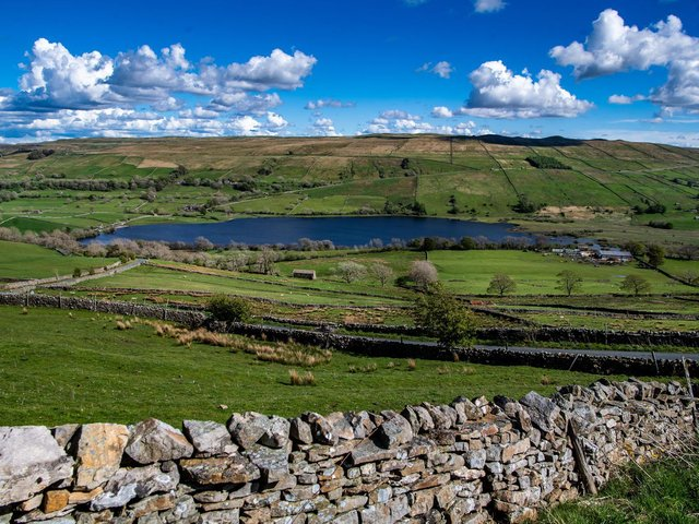 A view looking over Semerwater in the heart of Raydale in the Yorkshire Dales National Park.