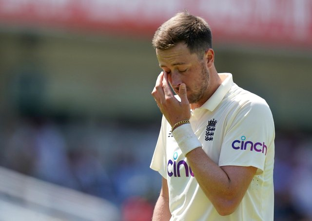 England's Ollie Robinson: Showed remorse.