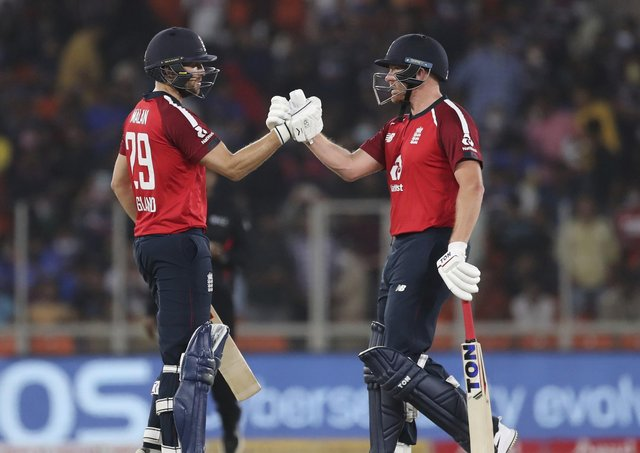 England duo Jonny Bairstow, right, and Dawid Malan should help ensure Yorkshire Vikings get off to a solid start in this year's Vitality T20 Blast. Picture: AP/Aijaz Rahi