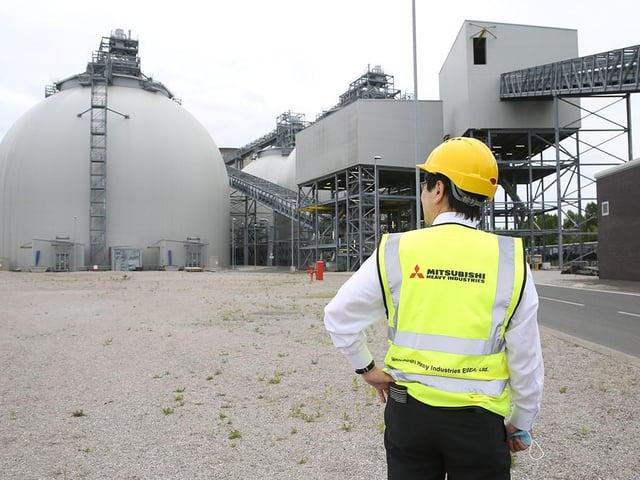 MHI: Kentaro Hosomi, Chief Regional Officer EMEA, Mitsubishi Heavy Industries at Drax Power Station, North Yorkshire
