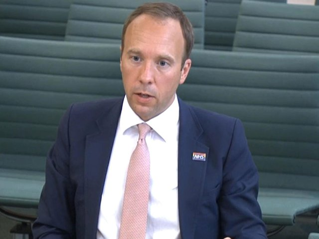 Health Secretary Matt Hancock giving evidence to the Science and Technology Committee and Health and Social Care Committee where he answered questions over allegations Dominic Cummings previously made before the Health and Social Care Committee and Science and Technology Committee