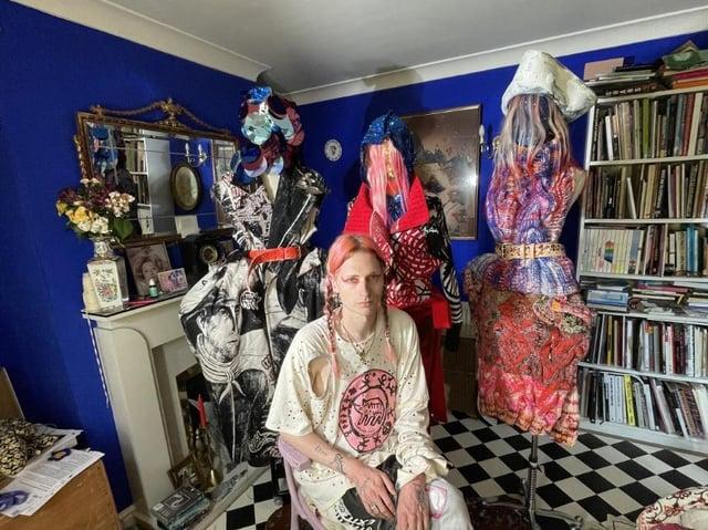 Matty Bovan, winner of the 2021 International Woolmark Prize. Picture: Catherine Veltman (Australian Wool)