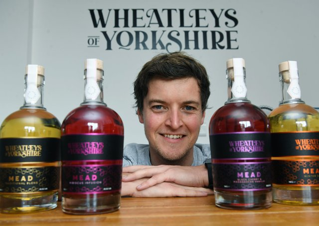 Oliver Wheatley, who set up Wheatleys of Yorkshire in Hull, making mead  Picture : Jonathan Gawthorpe