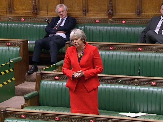 Former PM Theresa May in the Commons