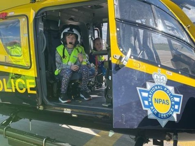 Brother and sister, Sam and Alice, crossed a 'police day' off their bucket list