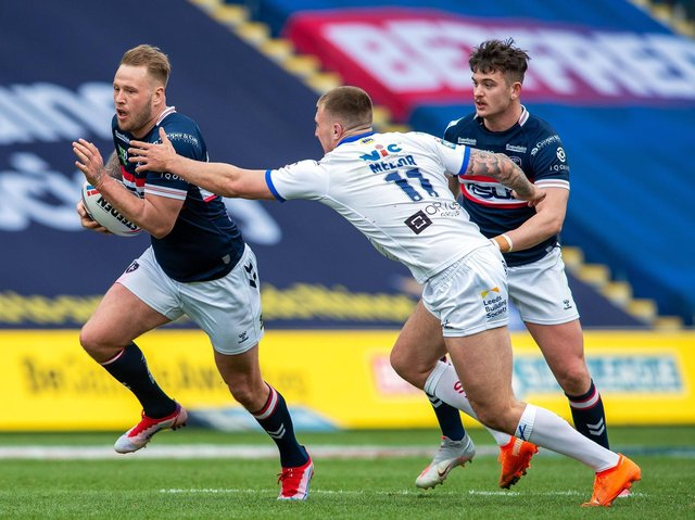 Wakefield Trinity's Joe Westermanb, left, has been called into the England squad. Picture by Bruce Rollinson.