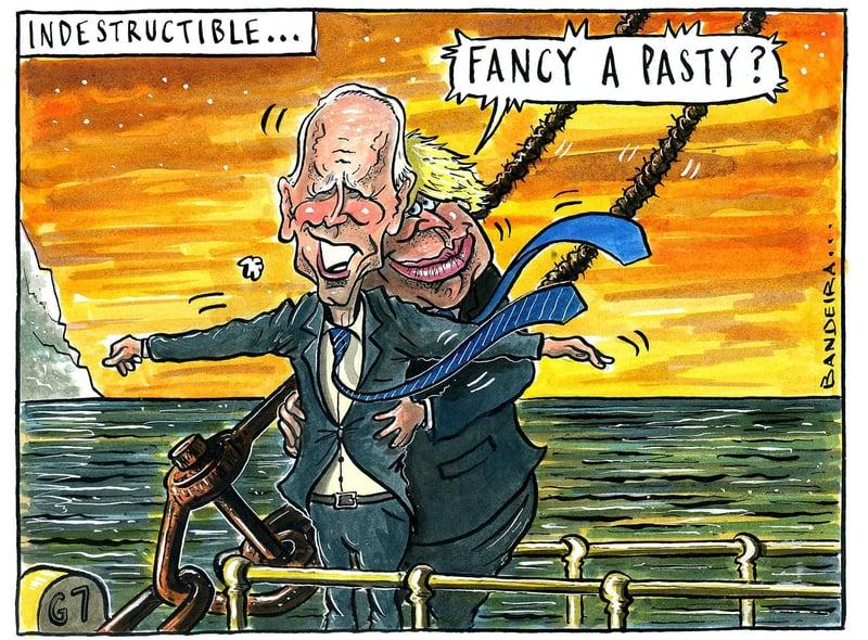 The Yorkshire Post cartoon by Graeme Bandeira: Boris meets Biden at G7  summit in Cornwall | Yorkshire Post