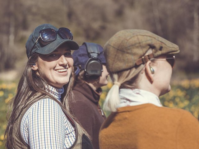 Tania Coxon, on the left, wants to make country pursuits more accessible for women. (Picture: Sam Freeman).