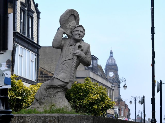 The Ernie Wise statue in Morley. Picture by Simon Hulme.