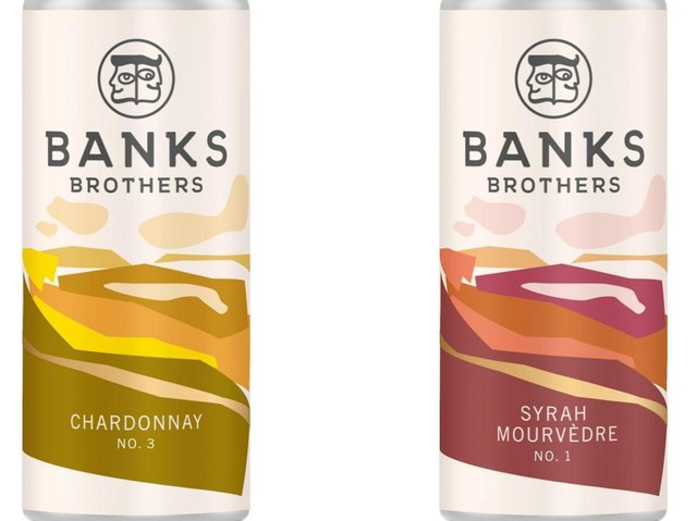 Banks Brothers premium canned wines
