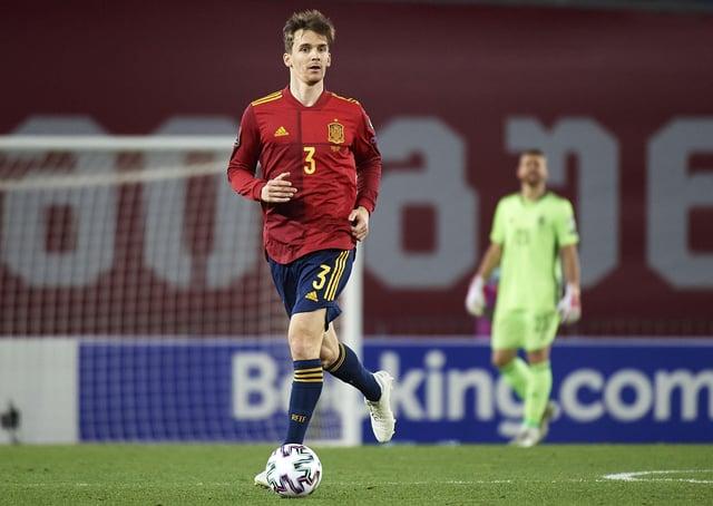 Leeds United's Diego Llorente playing for Spain. Photo: Tamuna Kulumbegashvili/Quality Sport Images/Getty Images