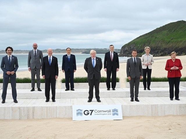 The summit has seen leaders including Joe Biden and Emmanuel Macron descend on Cornwall's Carbis Bay to discuss how to share vaccine supply fairly across developing countries in the first meeting of the G7 since 2019.