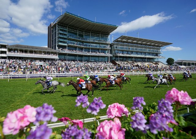 This was the scene at York where attendance is restricted to just 4,000 racegoers at present.