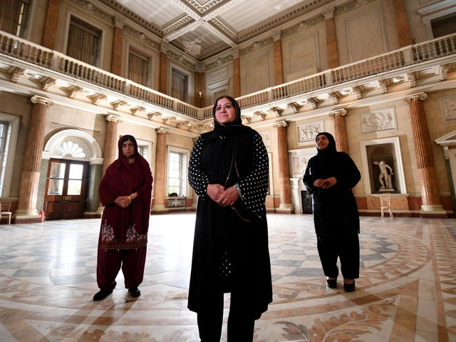 Zanib Rasool, Shaheen Shah and Mariam Shah at Wentworth Woodhouse. (Simon Hulme).