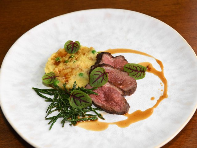 Roasted lamb rump with samphire, one of the dishes at The White Rabbit. (Jonathan Gawthorpe).