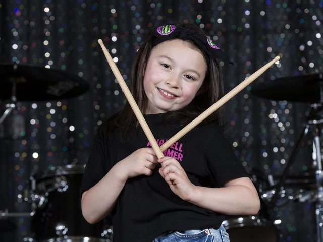 Anabell Tang first wielded drumsticks aged four