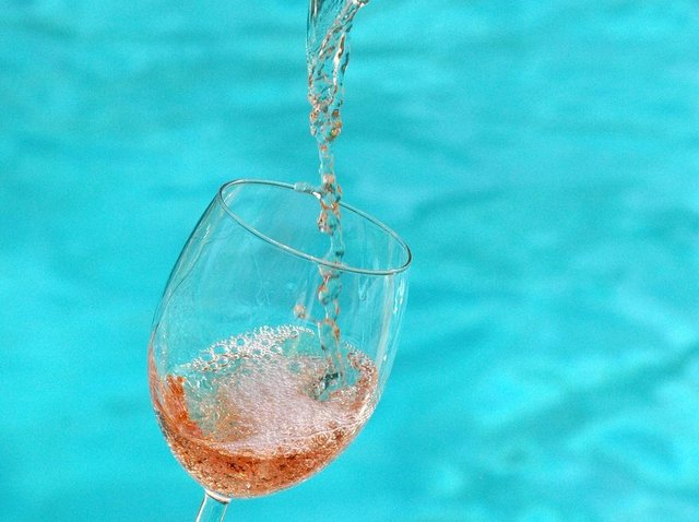 Rosé wines are perfect by the pool.