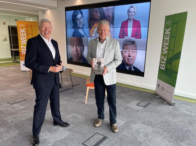 Paul Sewell (left) was interviewed by former Home Secretary Alan Johnson