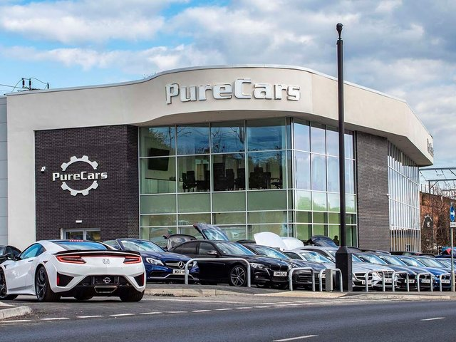 Driving forward: The firm has invested in a purpose built showroom in Wakefield where it has launched its dedicated prestige sports brand Pure Cars.