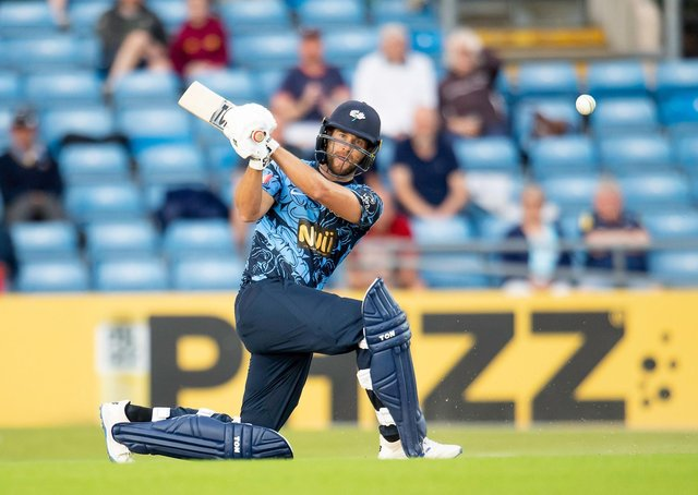 BIG HIT: Yorkshire's Dawid Malan hits out against Birmingham Bears at Headingley  he will join up with England at the end of this week. Picture by Allan McKenzie/SWpix.com