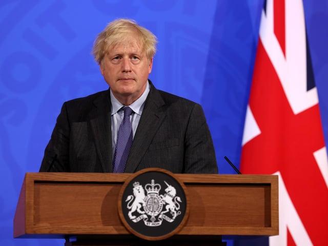 Prime Minister Boris Johnson, during a media briefing in Downing Street, London, on coronavirus (Covid-19).
