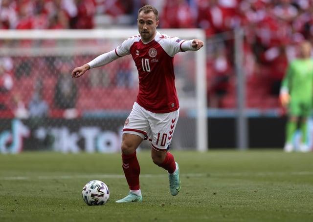 Footblaler Christian Erikesen during Denmark's Euro 2020 match against Finland.