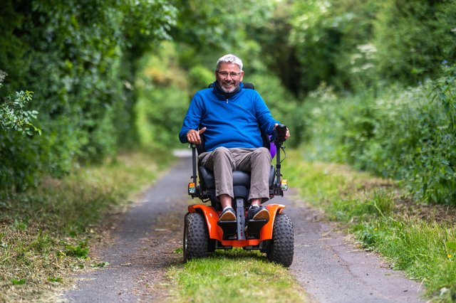 Ian Flatt, 55, from Green Hammerton with family and friends is doing a 100 Mile Trek for  St Michael's Hospice and the MND Association Picture James Hardisty.