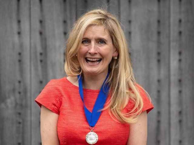 How To Train Your Dragon author Cressida Cowell after being announced as the new Waterstones Children's Laureate at Shakespeare's Globe Theatre, London in 2019. Picture: PA.