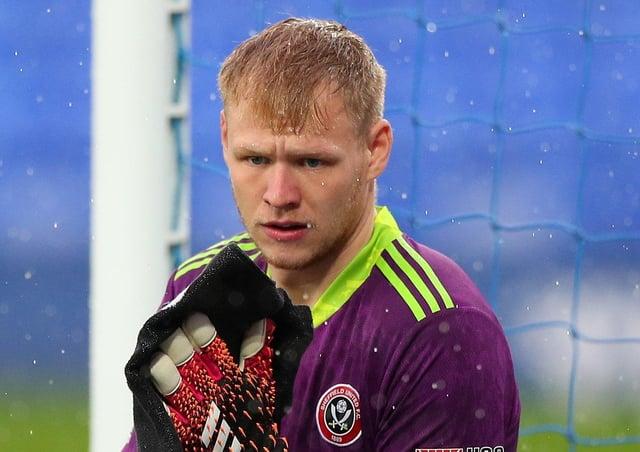 Sheffield United goalkeeper Aaron Ramsdale.  (Photo by Peter Byrne - Pool/Getty Images)