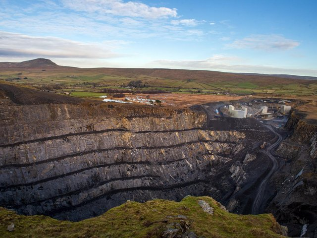 Dry Rigg Quarry in the Yorkshire Dales
