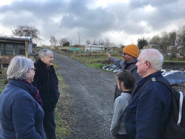 Plotholders at Cemetery Road allotments, where land is at risk of being bulldozed as part of plans for a new school.