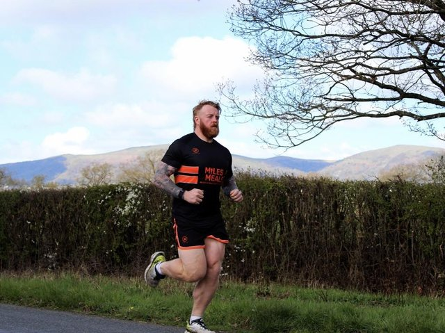 John Clark, the former international strongman is hoping to raise thousands of pounds for charity by running 48 marathons in each of England's 48 counties in 48 days. (Credit: Tom Kerrigan)