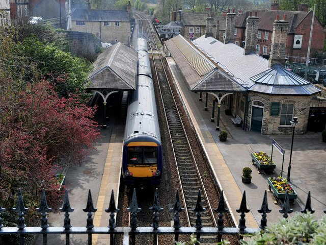 Knaresborough Station on the route between York and Harrogate