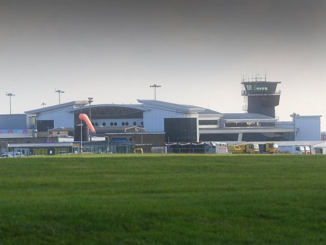 Leeds Bradford Airport.