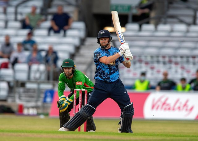 INJURED: Jonny Bairstow won't be in the Vitality T20 Blast line-up for Yorkshire Vikings against Durham at Emerald Headingley on Friday night.  Picture: Bruce Rollinson