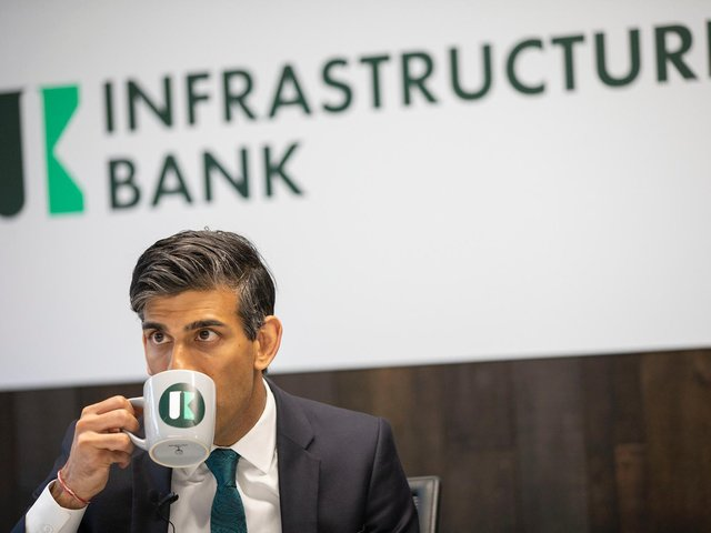 Chancellor Rishi Sunak at the UK Infrastructure Bank in Leeds. Pics by Treasury